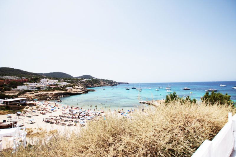Strand am Cottonbeachclub in Ibiza