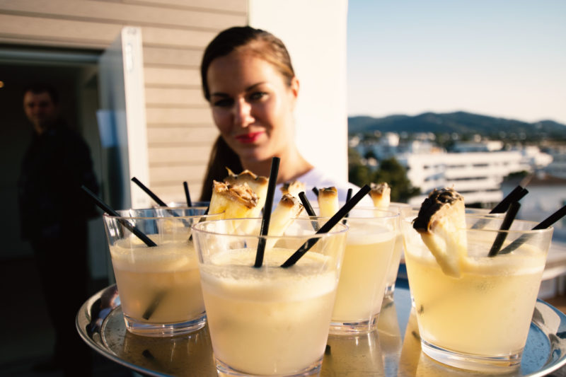 welcome drinks by solhouse Ibiza mixed Ibiza Rocks
